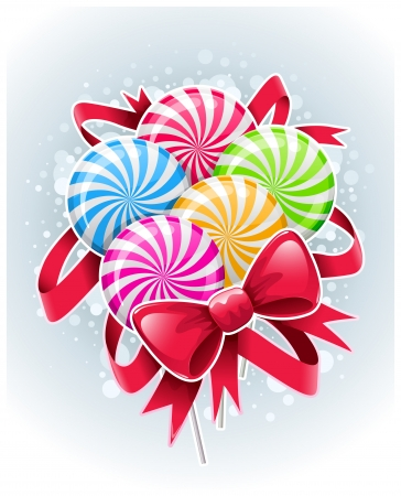 Vector illustration. Bunch of colorful candies. Vector