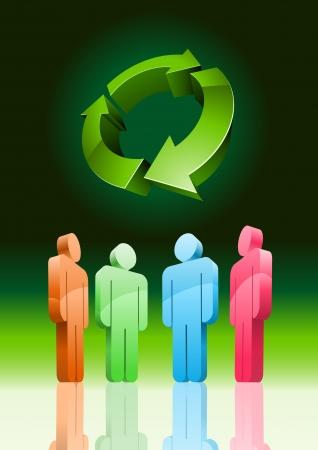 environmental conversation: environmental meeting 3d illustration