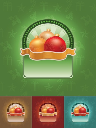 Christmas banner set. All elements are layered separately in vector file.  Vector
