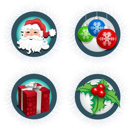 Christmas icon collection  Four christmas icon  Stock Vector - 18922944