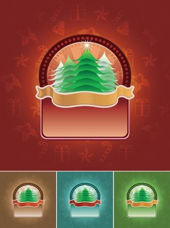 Christmas tree banner set Stock Vector - 18922861
