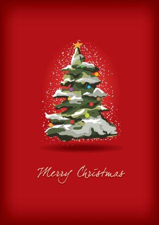 Christmas tree greeting Stock Vector - 18923799
