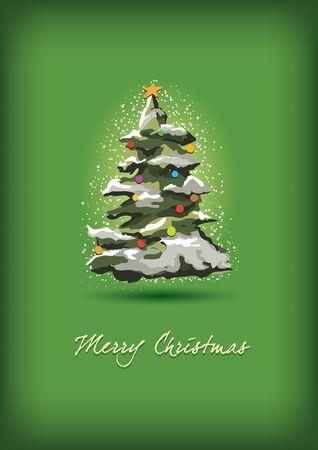 Christmas tree greeting Stock Vector - 18923909