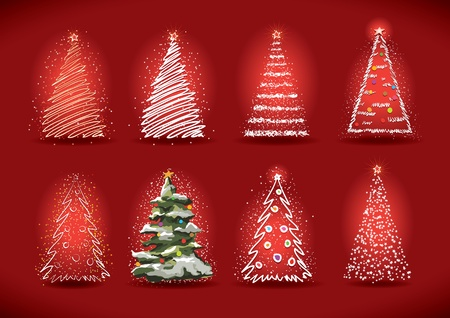 Christmas tree collection  Stock Vector - 18922997
