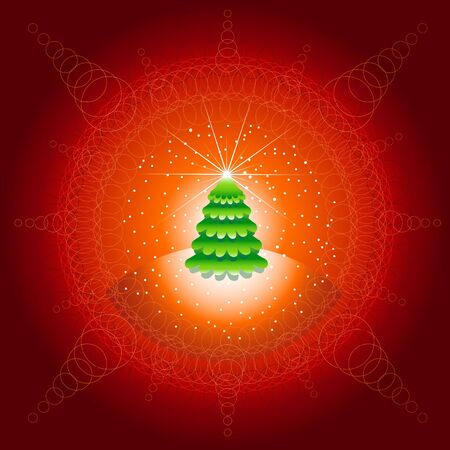 abstract christmas background with circles  Stock Vector - 18922582