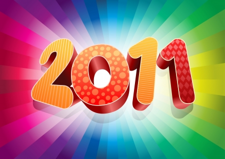 3d 2010 background  New year design element Stock Vector - 18922648