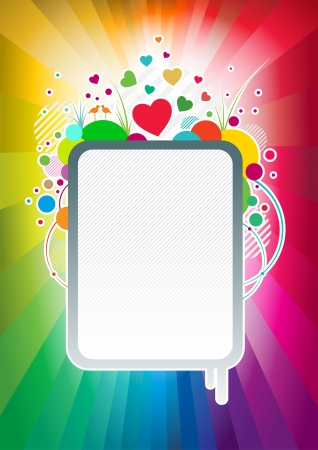Abstract colorful love banner  Vector