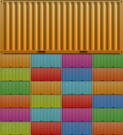 Colorful container background illustration  Vector