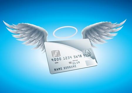 plastic money: Credit Card Angel
