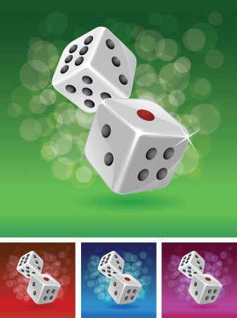 Dices illustration set   Vector
