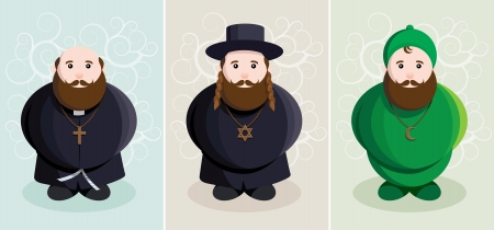 judaism: three similar men