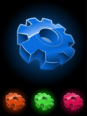Gear wheel symbol set  Stock Vector - 18921814