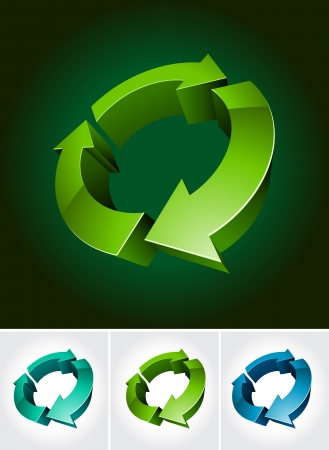 logo recyclage: l'environnement symbole 3d illustration