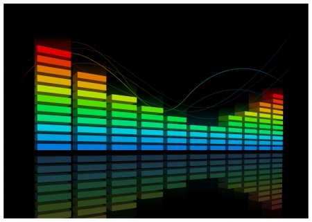 Elector Equalizer music background  Elements are layered separately  Vector