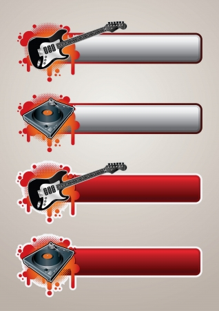 Entertainment Banner Set Elements are layered separately Vector