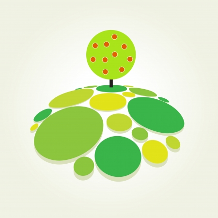 Abstract green tree illustration  Vector