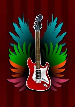 bass guitar: Electric guitar with wings