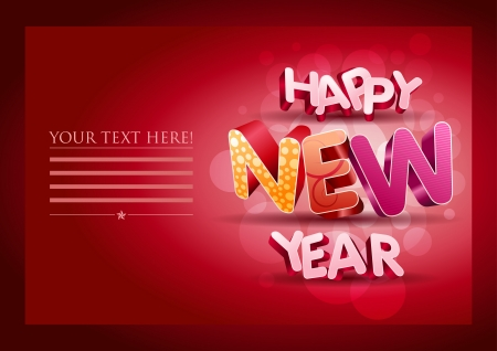 3d Happy New Year text. Stock Vector - 18923986
