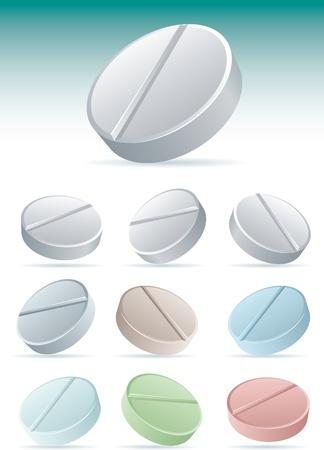Pills icon set 2. illustration icon set. Stock Vector - 18921446