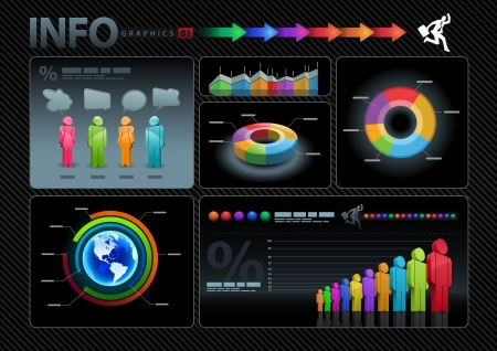 sales graph: info graphics set
