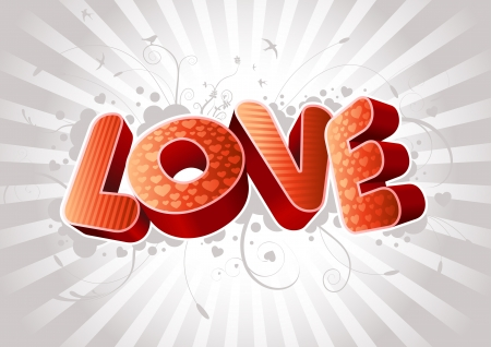 darling: 3D Love text composition