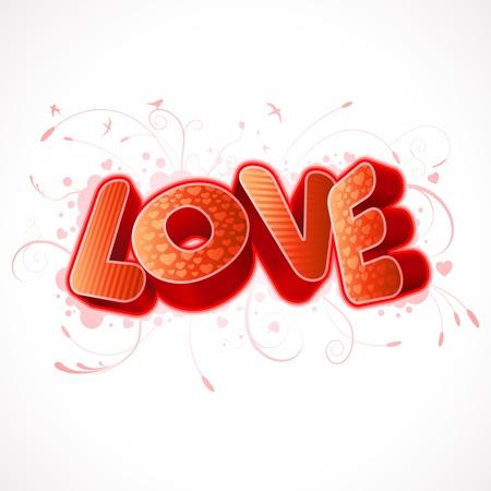 edit valentine: 3D Love text composition