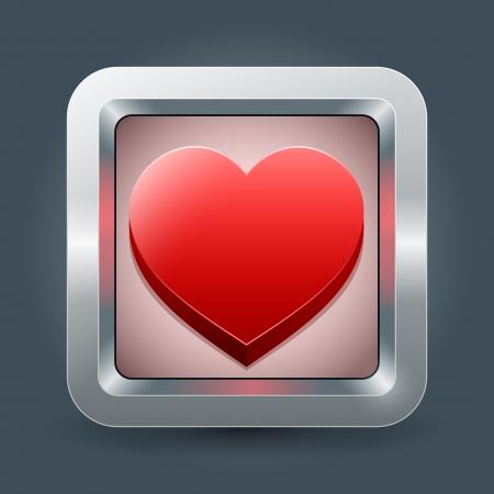mobil: liefde applicatie icoon voor mobiele toestellen