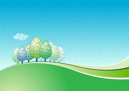 abstract landscape background. Vector