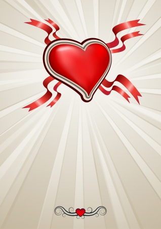 heart with copy space background. Vector