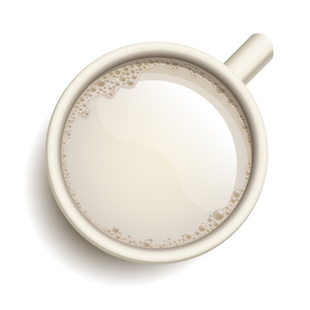 white yummy: realistic cup of milk Illustration