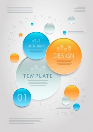 abstract minimal information design template.  Vector