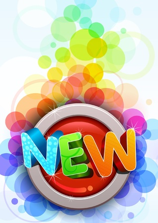 Colorful New themed poster template  All elements are layered separately in vector file  Easy editable eps10