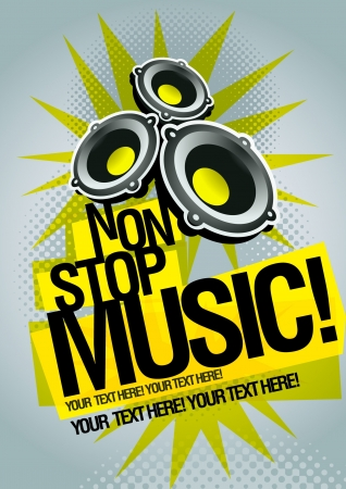 electronic music: Music concept poster template Illustration
