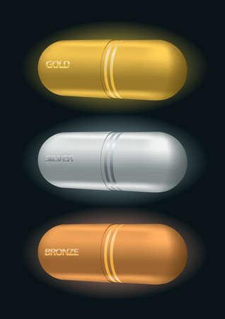 pharmaceutical awards symbol set illustration Stock Vector - 18922869