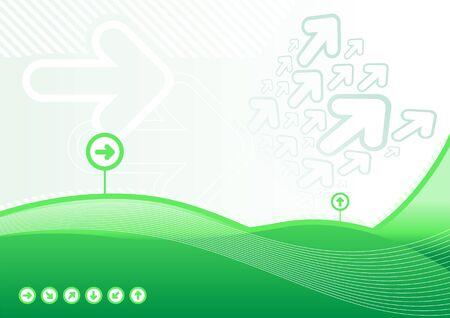 Green arrows background Stock Vector - 18921710