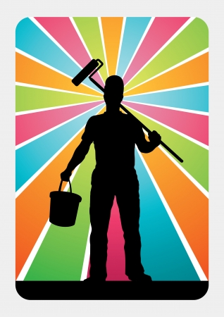 Master Painter illustration  Vector