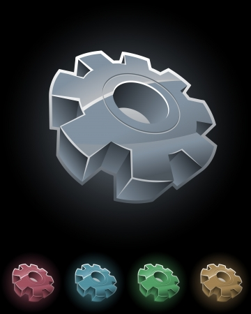 Gear wheel symbol set Vector