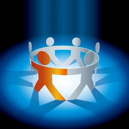 saamhorigheid concept illustratie Mensen symbool keten