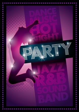 jazz club: Violet Mod�le Party poster