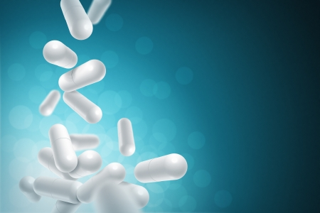 Pharmaceutical capsules background. Stock Photo - 18996381