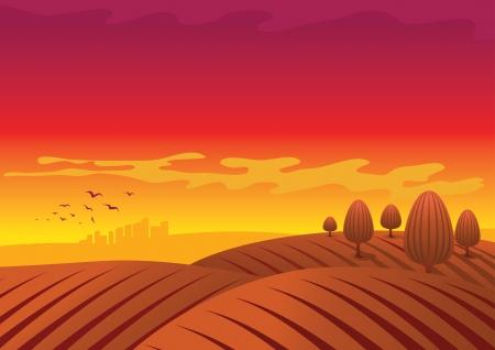 landscape illustration. Vector