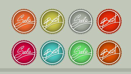 Handwriting vector Sale and Best tag set Stock Vector - 18994604
