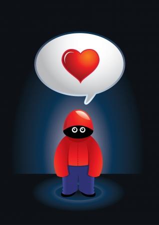 secret love: Vector illustration for platonic lovers. Illustration