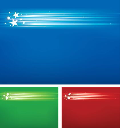 bright stars background set  seperated layers incluted in vector file  Vector