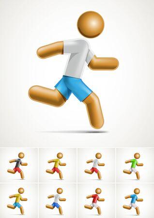 3d running man symbol  Stock Vector - 18994484