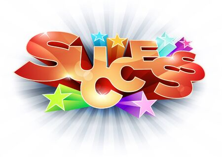 3d Success text Stock Vector - 18994499