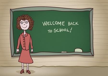 Welcome back to school  Vector cartoon  CMYK color mode Stock Vector - 18994836