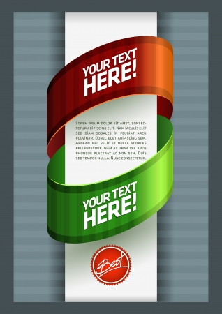Vector flyer template  All elements are layered separately in file  Easy editable