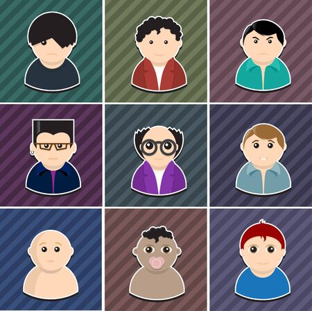 vector various people icon set  Elements are layered separately in vector file  Easy editable  Vector