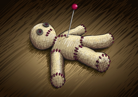 voodoo: Voodoo doll hand drawing vector illustration  All elements are layered separatey  Illustration